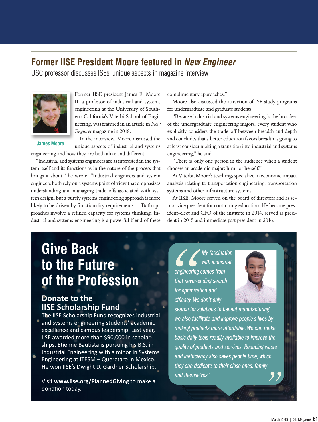 This month in IISE news