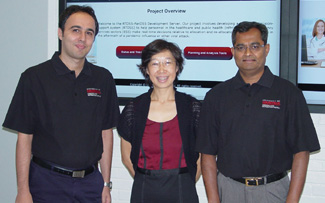 Farshad Majzoubi (from left), Lihui Bai and Sunderesh Heragu explored solutions for dispatching emergency vehicles during a pandemic.