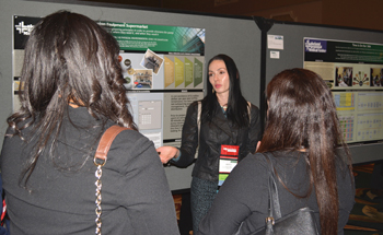 Poster sessions provide an ideal place for viewers and presenters to interact, ask questions of each other and learn.