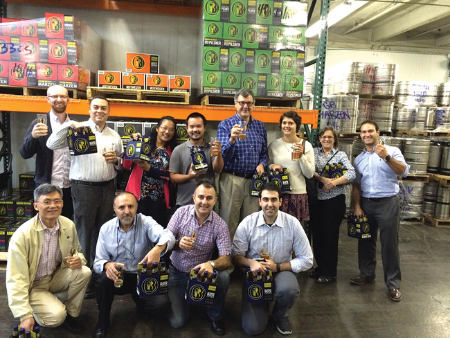 The Gordon Biersch brewery treated IIE Bay Area/Silicon Valley members to a tour, fresh beer directly from the brewery's holding tanks and a six pack to take home.