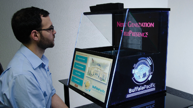 BuffaloPacific's Omni-Solution Series adds that human dimension by offering a telepresence that mimics face-to-face personal communications.