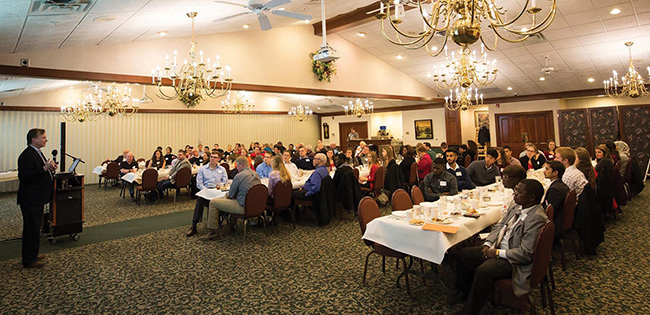 Almost 20 percent of IISE's state membership attended the annual all-Ohio dinner meeting. IISE fellow David Poirier addressed the group.