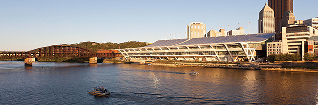 The David L. Lawrence Convention Center in Pittsburgh, the site of the IISE Annual Conference & Expo 2017, has a platinum LEED (Leadership in Energy and Environmental Design) certification.