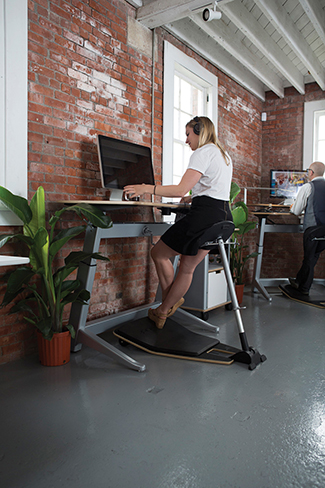 The Locus Seat by Focal Upright relies on perching in a relaxed