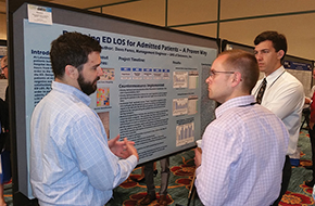 Poster presentations were a popular stop at the healthcare conference.