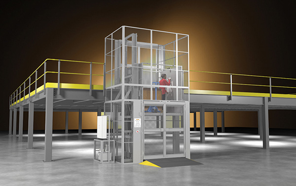 Wildeck's new RiderLift Type B Reliable Material Lift lets riders accompany their load between floors, increasing efficiency and safety.