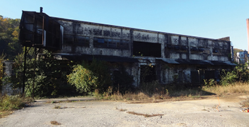 This main building of Glenns Creek Distilling is shown before its renovation.