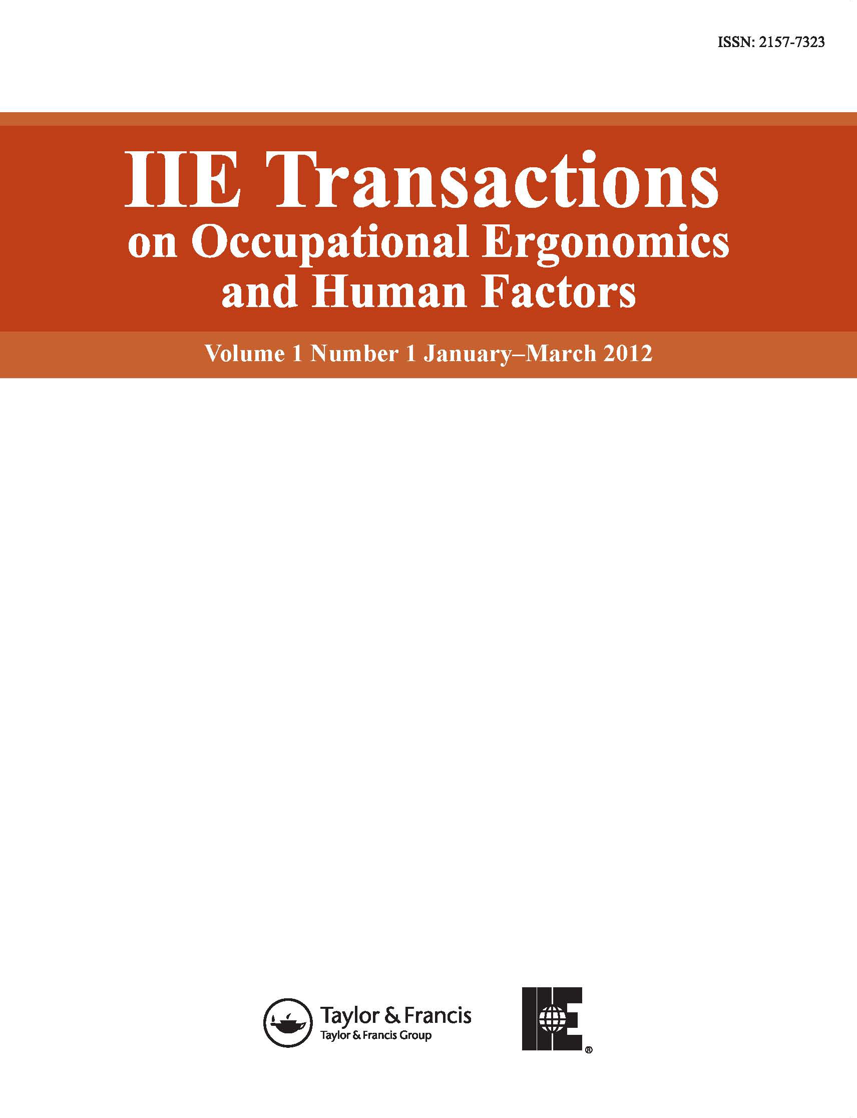 IIE Transactions on Occupational Ergonomics and Human Factors